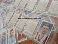 1930s two SETS of Wills Association Footballers 1939 VG-EX and 1935 P-G Stanley Matthews in both